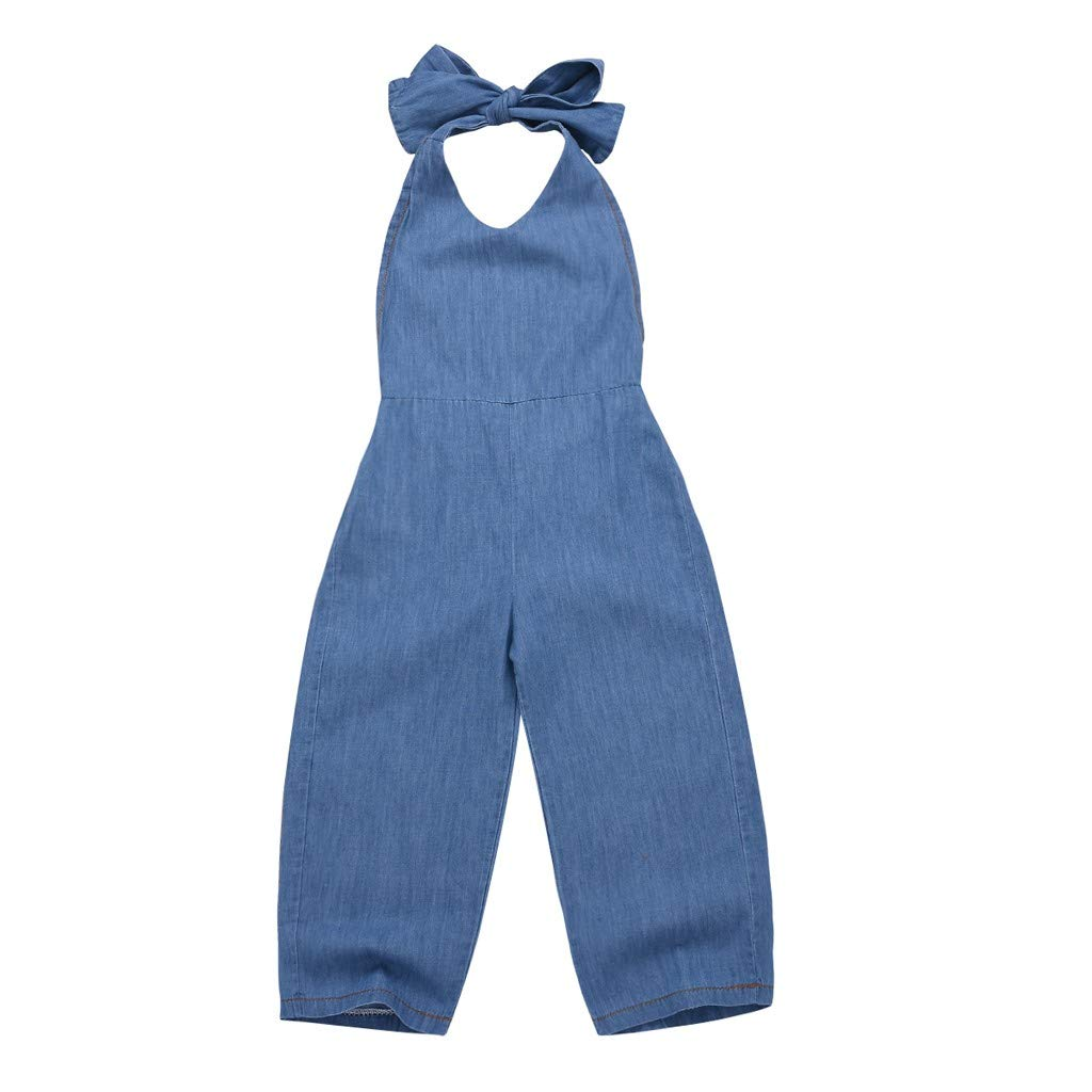 Baby Clothing Jaminy Toddler Baby Kids Girls Solid Lace-up Overall Pants Trousers Loose Pants Clothes
