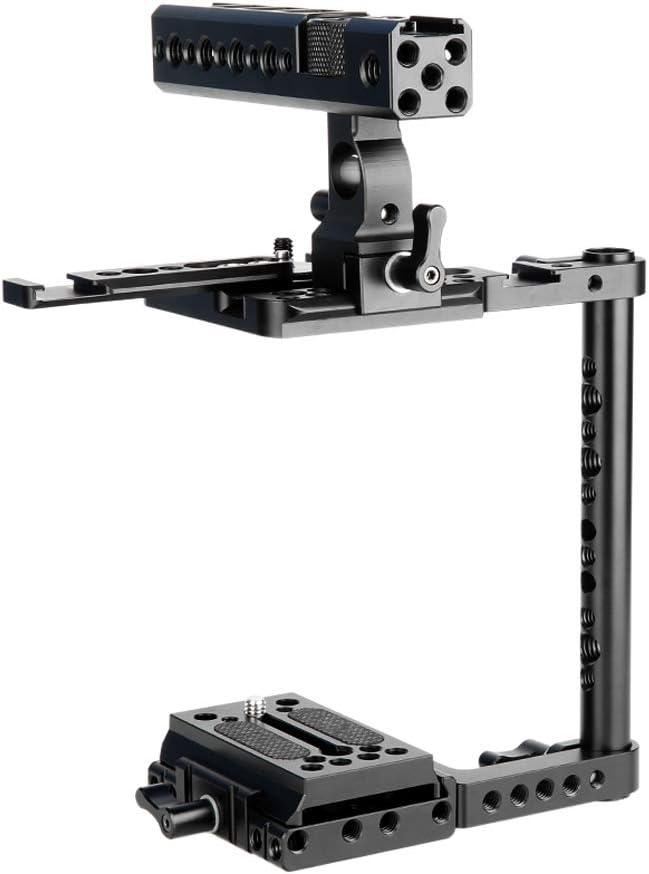 Half Camera Cage for Canon 5D Mark IV//III//80D//6D//7D 232 NICEYRIG Cage Kit with NATO Rail Handle Nikon D850//D800//D750 Panasonnic GH5//GH5S Sony A7RIII A7III