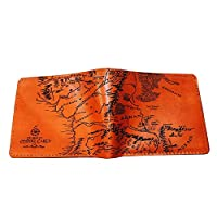 Unik4art - Lord of The Rings Middle Earth map genuine leather men wallet leather handmade customization personalized gift