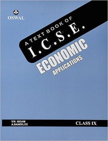 Text Book of ICSE Economics Applications Class IX