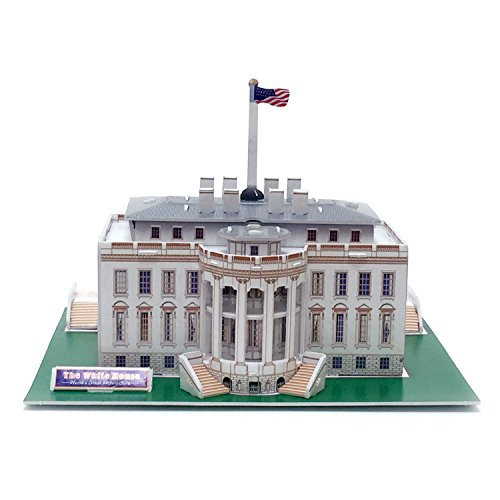 Creative 3D Puzzle Paper Model White House DIY Fun & Educati