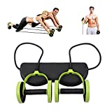 Darhoo New Sport Core Double AB Roller Wheel Fitness Abdominal Exercises Equipment Waist Slimming Trainer At Home Gym