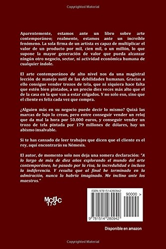 Me inclino ante los maestros: Arte Contemporáneo: telas pintadas a cambio de millones (MCELC) (Volume 1) (Spanish Edition): Louis L. Duchamp-Pooh, ...