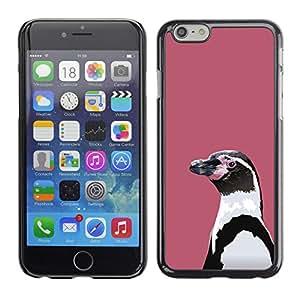 Caucho caso de Shell duro de la cubierta de accesorios de protección BY RAYDREAMMM - Apple Iphone 6 Plus 5.5 - Lila pingüino
