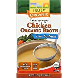 Field Day Broth Organic Chicken Low Sodium, 12 Count