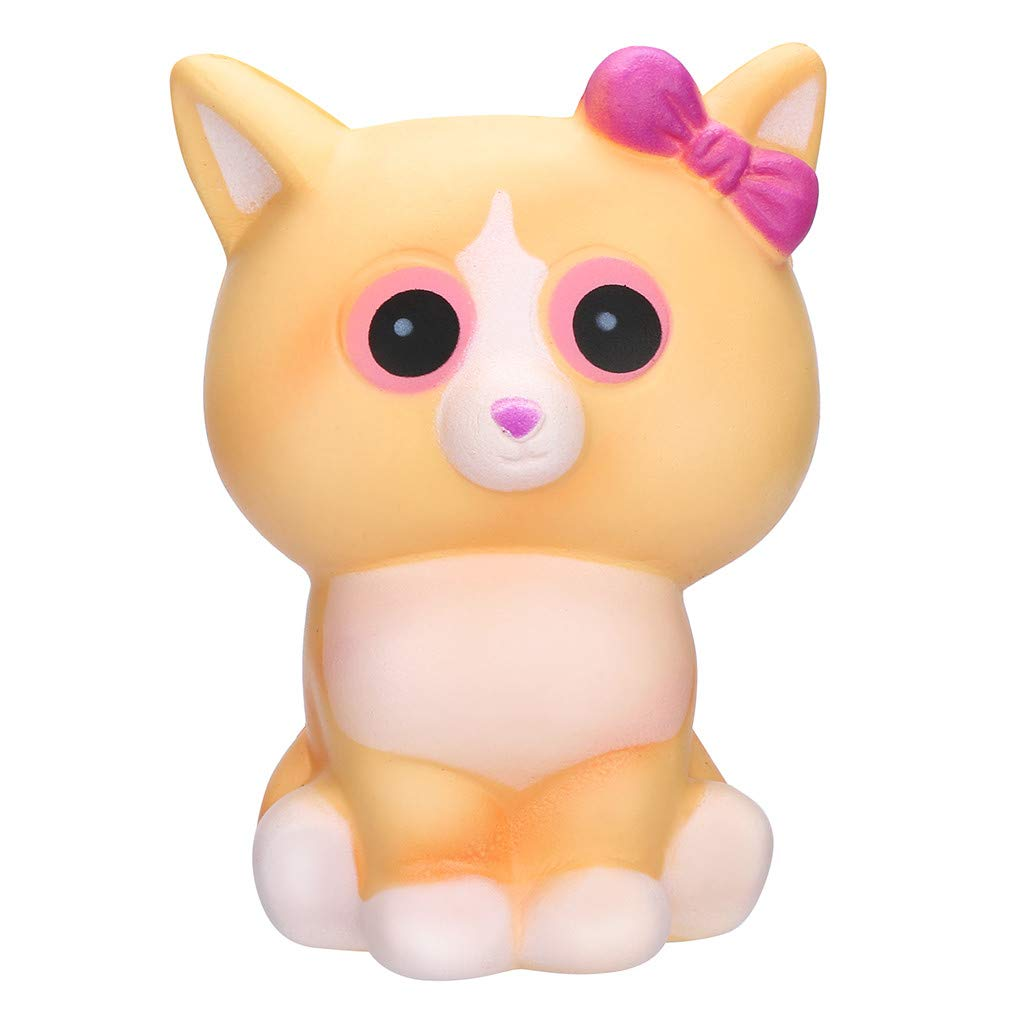 Dianli Squishies Kawaii White Cat Toys, Cream Scented Charms Kawaii Squishy Toys for Anti Anxiety, Squeeze Mini Party Favors for Kids
