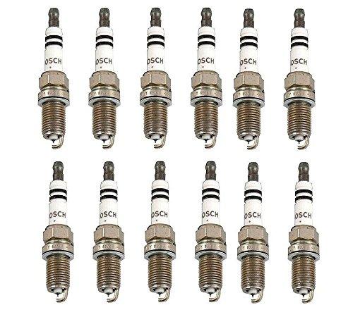 Set Of 12 Mercedes W163 W208 W210 W211 W220 Spark Plug Bosch Platinum Plus FR8DPP33