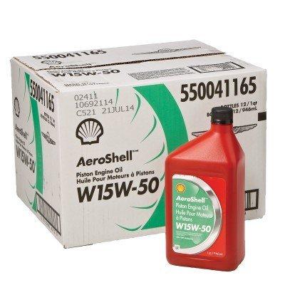 AeroShell SHAEW155-12 15W50 Shell Aviation Oil, 1 Quart, 12 Pack