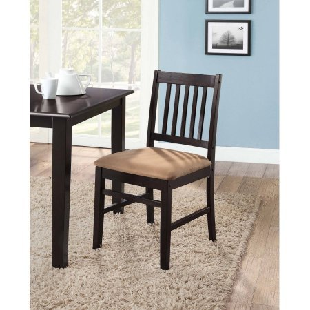 Mainstays 6-Pack Dining Chair Set, Espresso