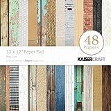 Kaisercraft Paper Pad 12x12-Inch, Base Coat, 48-Pack