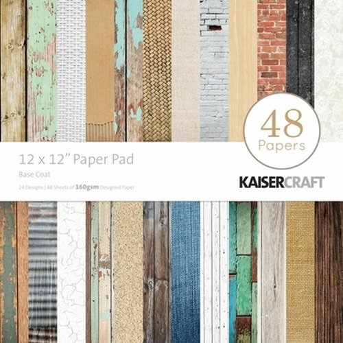 Kaisercraft Paper Pad 12 by 12-Inch, Base Coat, 48-Pack from Kaisercraft