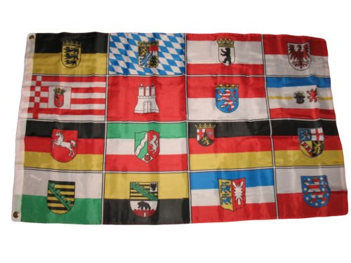 Moon 3x5 German Germany 16 States Flag 3x5 House Banner fade
