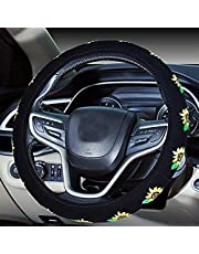 Mayco Bell 2016 Automotive Women Embroidery Cute Car Steering Wheel Cover