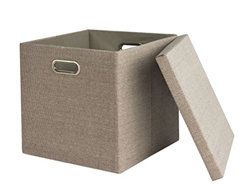 fabric cube bins with lids - 2
