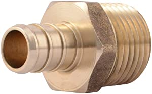 "SharkBite UC120LFA10 1/2"" Male PEX Barb Fitting (10-Pack), Brass"