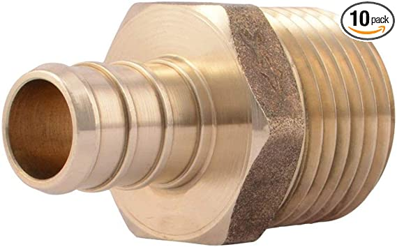 Antrader 10-Pack Straight Coupling Brass Hose Fitting 1//2 x 1//2 Barb Barb PEX Pipe Fittings