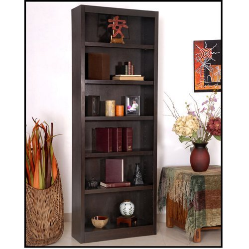 Midas Six Shelf Bookcase 84″H Cherry Finish