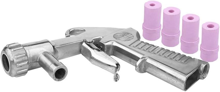 Kit con pistola de chorro de arena Air Siphon con, arenado abrasivo, con 4boquillas de cerámica de 4,5/5/6/7mm