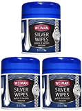 Weiman Silver Wipes for Cleaning and Polishing Silver Jewelry, Sterling Silver, Silver Plate and Fine Antique Silver - 4 Pack of 20 Count