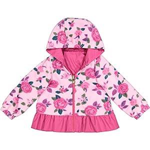 London Fog Little Girls' Midweight Reversible Jacket, Ophelia Pink, 5/6