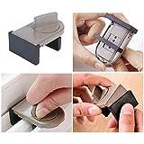 Vankcp 2 Pcs Door Window Lock Stopper Wedge with