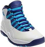 310805-107 MEN AIR RETRO 10 JORDAN WHITE/BLUE