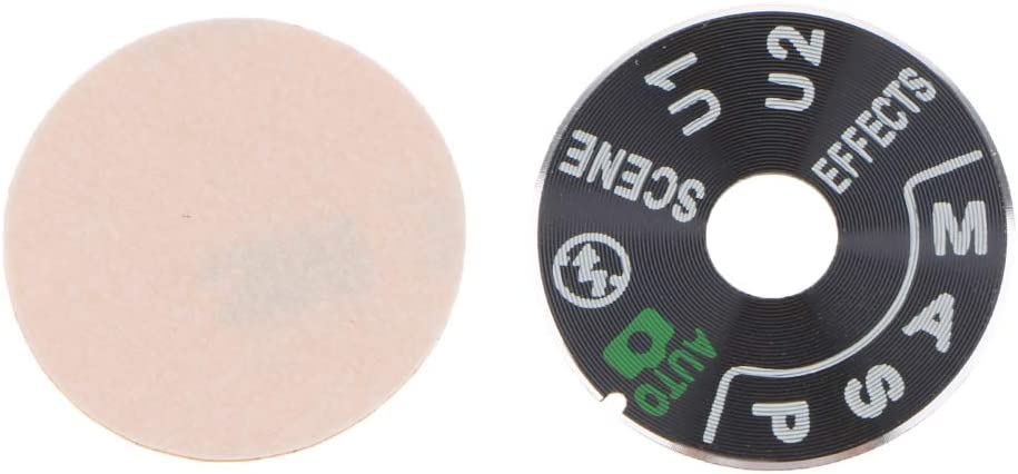 Baosity 1 Piece Top Cover Function Dial Mode Plate Interface Nameplate Cap Label for Nikon D7200 Digital Camera Repairing Parts
