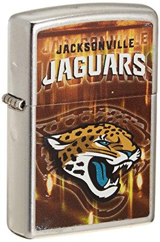 Zippo NFL Jacksonville Jaguars Street Chrome Pocket (Nfl Jacksonville Jaguars Zippo Lighter)