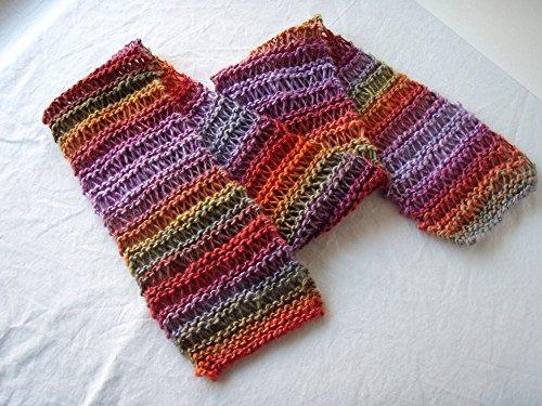 Sunset Handknit Scarf (Drop Stitch Scarf)