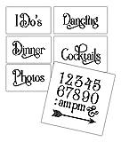 Wedding Stencil Words - Fun Stuff - Elegant Traditional 6pc Jumbo Set - STCL1599_4 by StudioR12