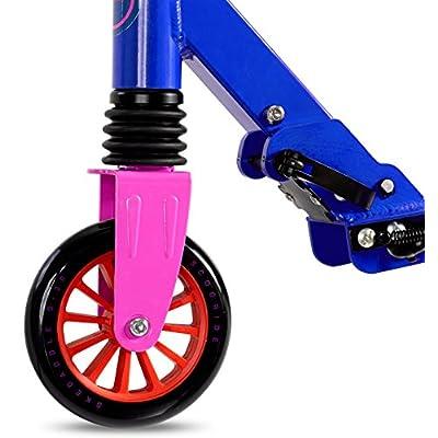 Scooride Skedaddle S-30 Premium Folding Kids Kick Scooter, Blue: Sports & Outdoors