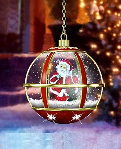 Amazon Com Holiday Musical Snow Globe Santa Hanging Lamp By Jumbl Home Improvement
