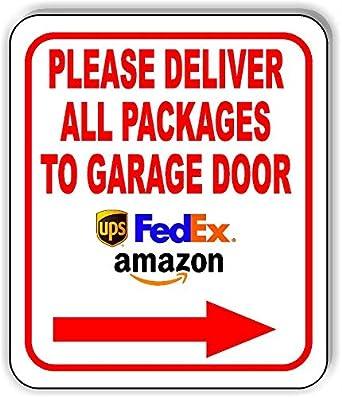 Amazon.com: Cartel de aluminio compuesto para puerta de ...