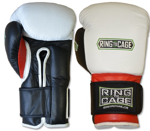 Ring to Cage Deluxe MiM-Foam Sparring Gloves - Safety Strap Boxing Training Gloves, for Boxing, MMA, Muay Thai, Kickboxing (16oz)