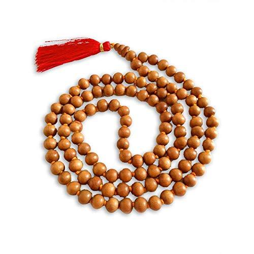 Aadit Crreation Sandalwood Scented Jaap mala 108+1 Beads for Meditation ...