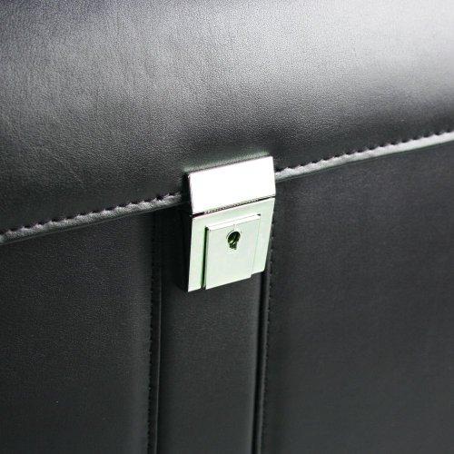 d&nBusiness Line Aktenkoffer mit Fächeraufteilung 01 schwarz