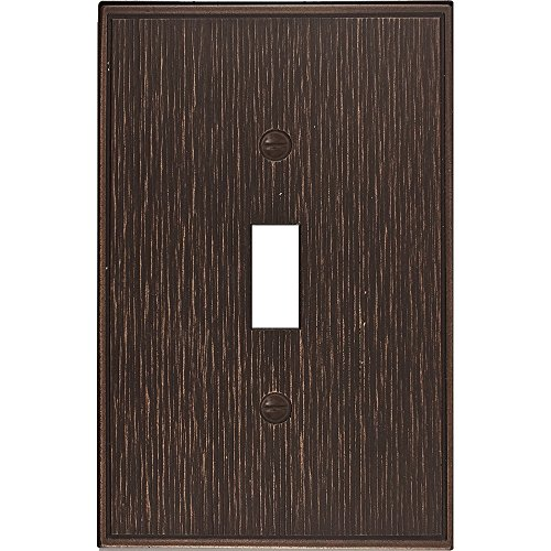 Questech Twill Textured Metal Composite Switch Plate/Wall Plate/Outlet Cover (Single Toggle, Oil Rubbed Bronze)