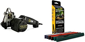 Work Sharp Knife & Tool Sharpener & WSSA0002012 Knife & Tool Sharpener Replacement Belt Kit (WSKTS & WSKTS-KT)