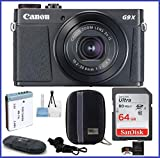 Canon PowerShot G9 X Mark II Digital Camera (Black) PRO Bundle includes: 64GB SDXC Class 10 Memory Card, Card Reader, Extra Battery & more...