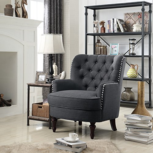 Rosevera Jagger Arm Chair, Charcoal
