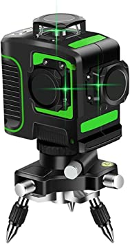 Topkar Green Beam 3d Self Leveling 3x360 Cross Line Three Plane Laser Level With 360 Rotating Base Amazon Com