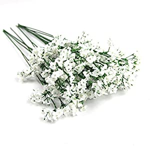 LeRich 12pcs Artificial flowers Gypsophila Baby's Breath Bouquet Silk Baby Breath Flowers for Home Wedding Party DIY Hotel Decorations Pretty Flowers 4