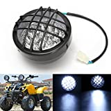 12v front led headlight lamp for atv quad 4 wheeler go kart