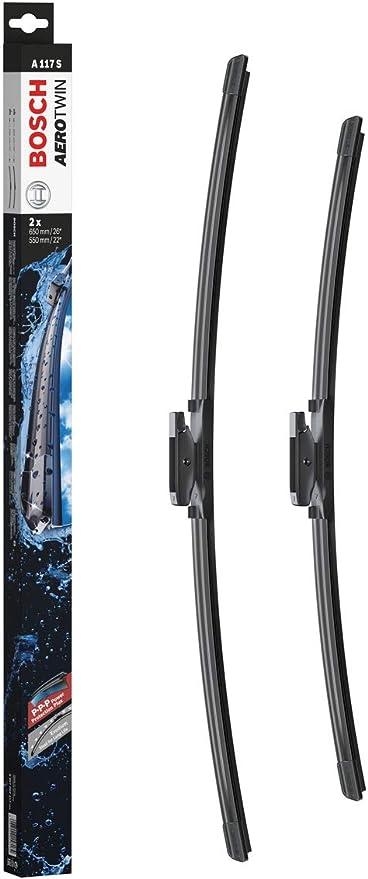Escobilla limpiaparabrisas Bosch Aerotwin A117S, Longitud: 650mm/550mm – 1 juego para el parabrisas (frontal): Amazon.es: Coche y moto
