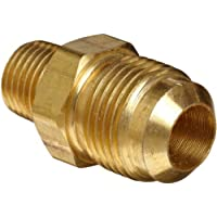 Anderson Metals Brass Tube Fitting, Half-Union, 3/8 Flare x 3/8 Male Pipe by Anderson Metals