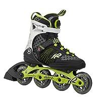 K2 Damen Inline Skate Alexis Boa, schwarz/grün, EU 38 (US 7.5), 3050100.1.1