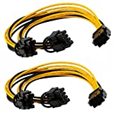 #6: 6 pin to 2 x PCIe 8 (6+2) pin Graphics Card PCI-e Express VGA Splitter Power Extension Cable(2 Pack)