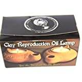 Ancient Jesus Biblical Clay Oil Wick Lamp Replica by Bethlehem Gifts TM