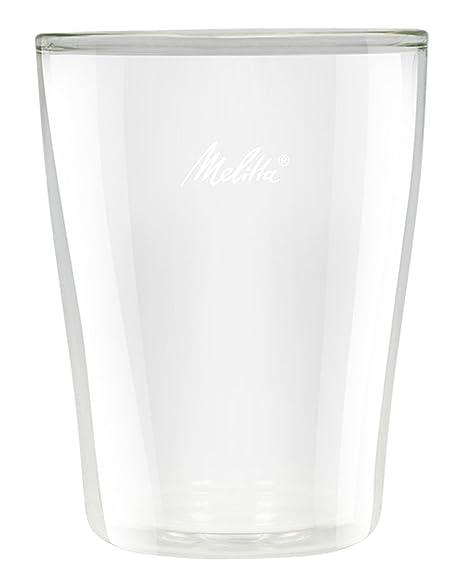 Melitta 4006508212903 Vasos Doble Medianos, 0.2 litros, Vidrio, Transparente