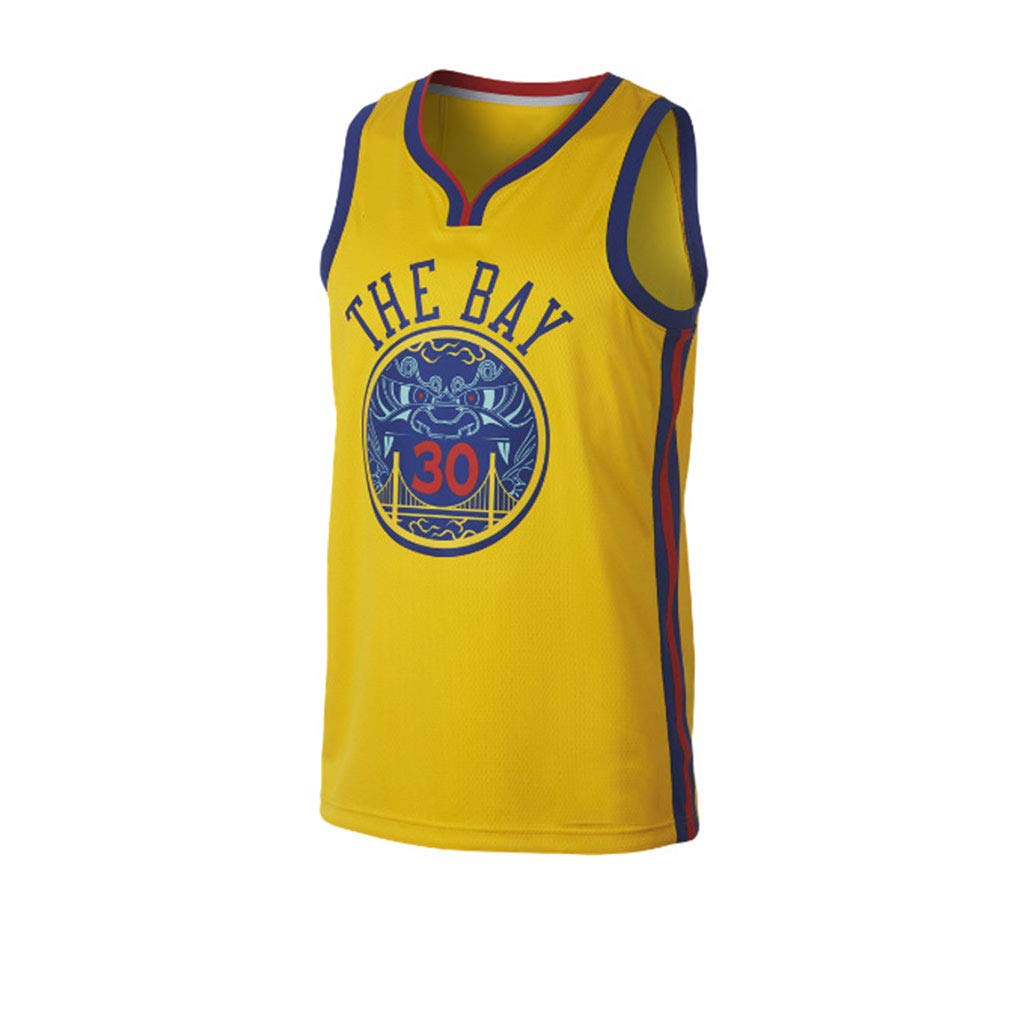 Stephen Curry Golden State Warriors 2018-2019 Temporada Jersey De Baloncesto De La NBA Lebron James Kyrie Irving Kevin Durant Stephen Curry Lakers Cohetes ...